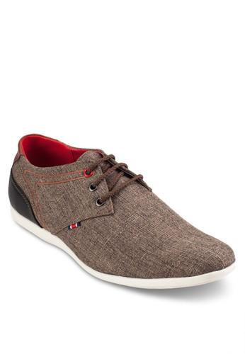 三眼繫帶拼色正式感休閒鞋, 鞋,esprit 鞋 休閒鞋