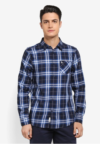 Jack Wills blue Salcombe Lw Flannel Check Shirt DA511AA57119A7GS_1