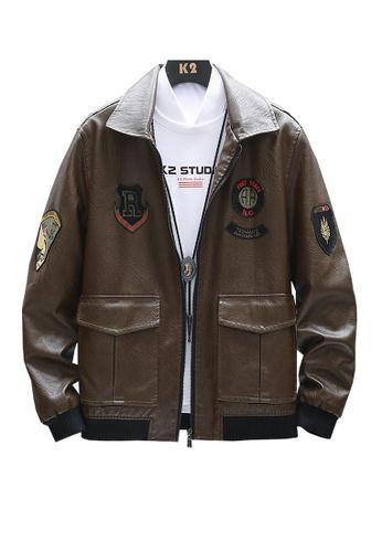 Twenty Eight Shoes brown VANSA Fashion Plus Fleece Coat  VCM-C8962 CCE0CAA3174112GS_1