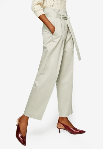 Mango brown Pleat Detail Trousers F3602AA4317D68GS_1