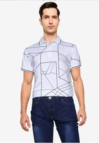 Fidelio white Aztec Printed Polo Shirt 332E5AA8FD7D10GS_1