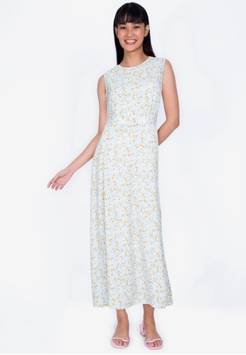 ZALORA BASICS multi Ring Detail Sleeveless Maxi Dress 15183AA0E9EB65GS_1