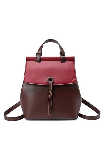 Twenty Eight Shoes brown VANSA Nappa Leather Backpacks VBW-Bp228 290E2AC4F7E594GS_1