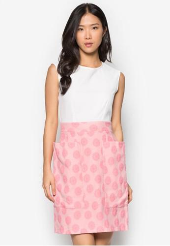 大esprit hk store口袋提花拼接洋裝, 服飾, 洋裝