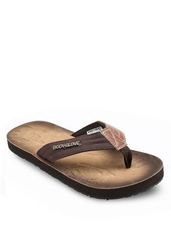 esprit holdings異材質拼接夾腳涼鞋, 鞋, 鞋