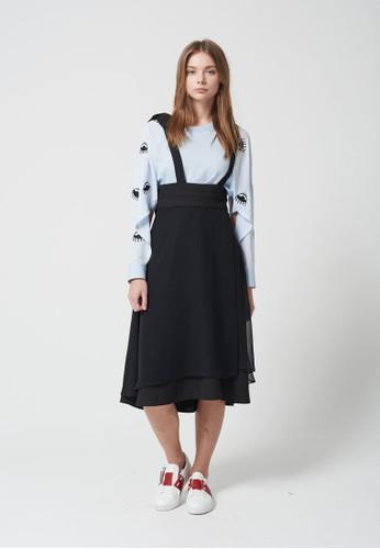 Love 大蝴蝶結層次吊帶連身裙, 服飾,esprit tst 洋裝