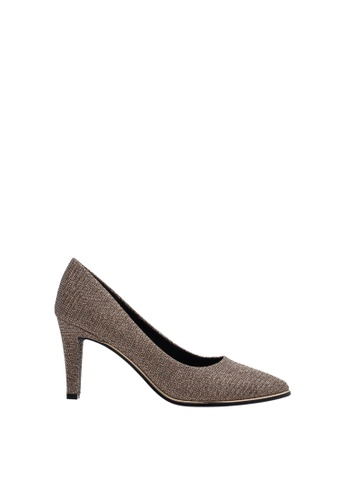 SEMBONIA grey Women Synthetic Leather Court Shoe 47B52SHF20856DGS_1