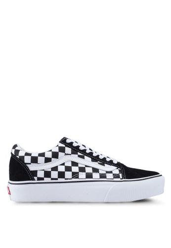 Old Skool Platform Checkerboard Sneakers