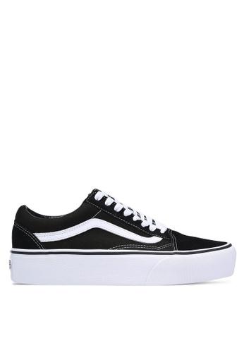 VANS black Old Skool Platform Sneakers D32F4SH8080013GS_1