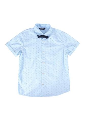 LC Waikiki blue Boy's Poplin Shirt and Bowtie E16C6KAC6CFD3EGS_1