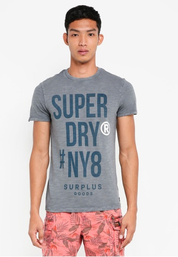 Superdry blue Surplus Goods S/S Graphic Tee 3DCB6AA82AA318GS_1