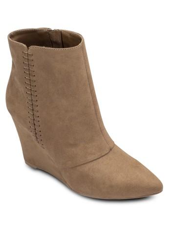 尖頭楔型跟鞋短靴zalora 衣服評價, 女鞋, 靴子