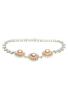 Peach Ana Freshwater Pearl Bracelet