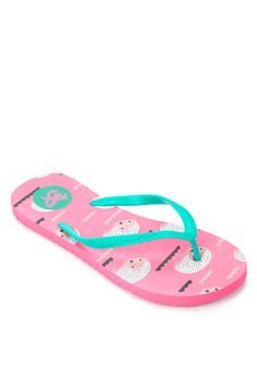 So Kitsch Looking Sharp Flip Flops