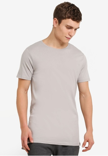 Factorie grey Drop Tail Tee FA880AA0RYABMY_1