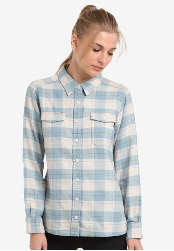Patagonia white Long Sleeve Fjord Flannel Shirt PA549AA0RQAVMY_1