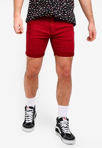 Cotton On 紅色 休閒抽繩短褲 FEE12AAABB9589GS_1