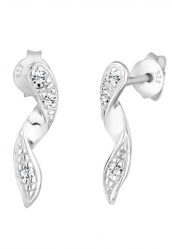 Elli Germany white 925 Sterling Silver Anting Elegant Swarovski® Crystals Putih A9010AC5F377C0GS_1