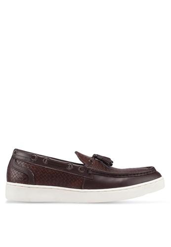 Carlton London brown Tassle Loafers C82D6SH5FB6E27GS_1