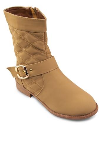 Cynthzalora 手錶ia 扣環帶中筒靴, 女鞋, 鞋
