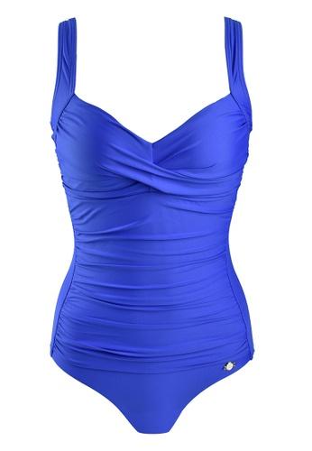 Sunseeker blue Solids D Cup One-piece Swimsuit D5AB9USC19E53DGS_1