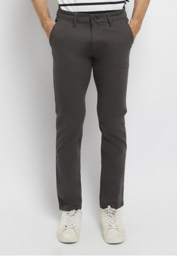 Arnett grey Arnett Celana Pria Chinos Slim Fit Dark Grey 6AAE8AA8600ED6GS_1