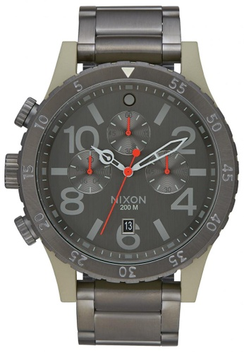 Nixon grey and green Nixon - 48-20 Chronograph - Sage/Gunmetal NI855AC15SVSSG_1