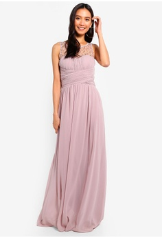 2c6b62e190 Little Mistress pink Mink Pearl Maxi Dress FBECEAAEAD576CGS 1