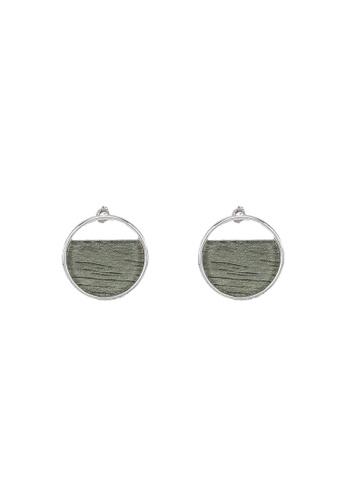 niko and ... grey Circle Dangle Earrings 0623EAC9EB0106GS_1