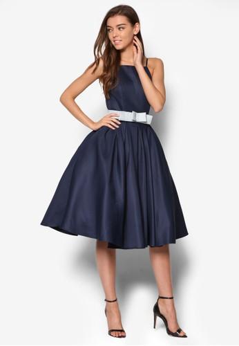 Cassandra 削肩腰帶洋裝, esprit門市服飾, 服飾