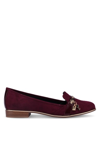 River Island red Pudsey Lock Key Loafers C342CSH1B1FE91GS_1