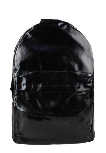 OOTD black Simple Casual Backpack OO654AC34LQRPH_1