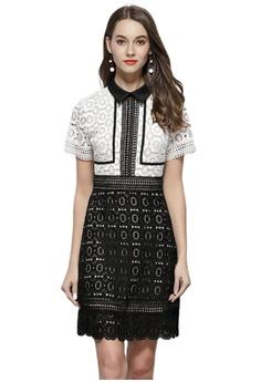 aca7ba61f1 Sunnydaysweety multi Luxury New Black And White Stitching Dress CA052103  D353EAA242C32AGS_1