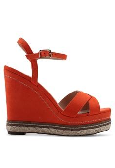 f43f737111a Dorothy Perkins orange Orange Rosie Cross Wedges EC867SHE3D6139GS_1