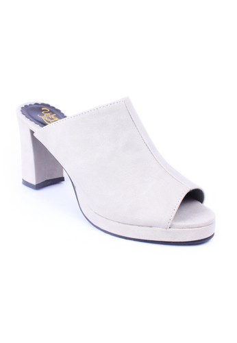 Urban Looks grey Denada Light Grey Heels UR829SH06FTTID_1