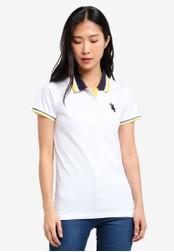 BGM POLO white Printed Polo Shirt BG646AA0S0JQMY_1