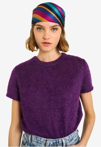 PIMKIE purple Short Sleeve Fluffy Knitwear 5B70CAAEB822FFGS_1