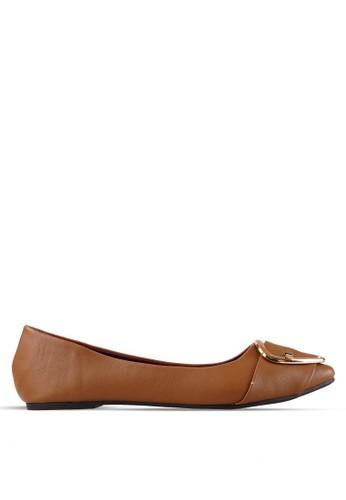 INSIDE brown Inside Flats Paloma - Brown IN074SH65ZXIID_1
