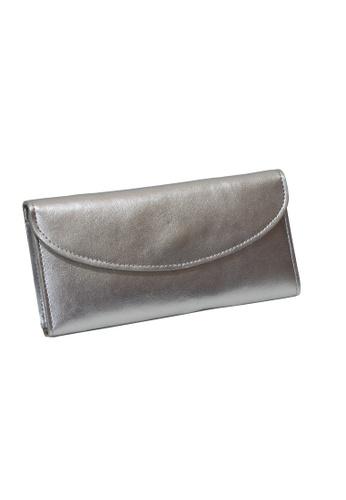 Dazz silver Calf Leather Simplicity Wallet - Silver DA408AC60LLVMY_1
