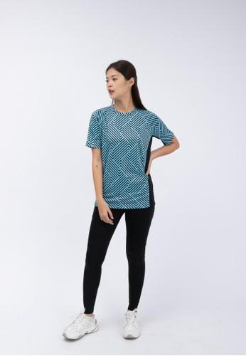 Trijee blue Trijee Women Short Sleeve Tee Halu Series 3 Grotto Blue 3B83BAA7EAB822GS_1