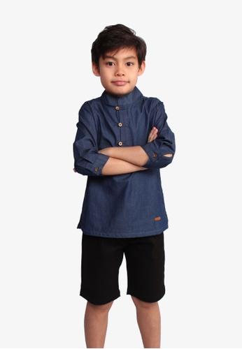 SODA navy Modest Tang Suit Denim Shirt BE611KA5EBC547GS_1