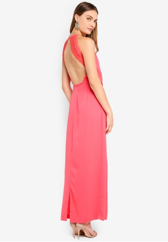 6acf59f88 Buy AX Paris Halterneck Strappy Lace Detail Maxi Dress | ZALORA HK
