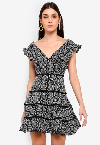 Bardot black Sierra Frill Dress 3D743AA2BB93D2GS_1