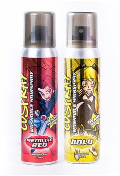 Cospray Red&Gold Washable Hair Color Spray (Set of 2)