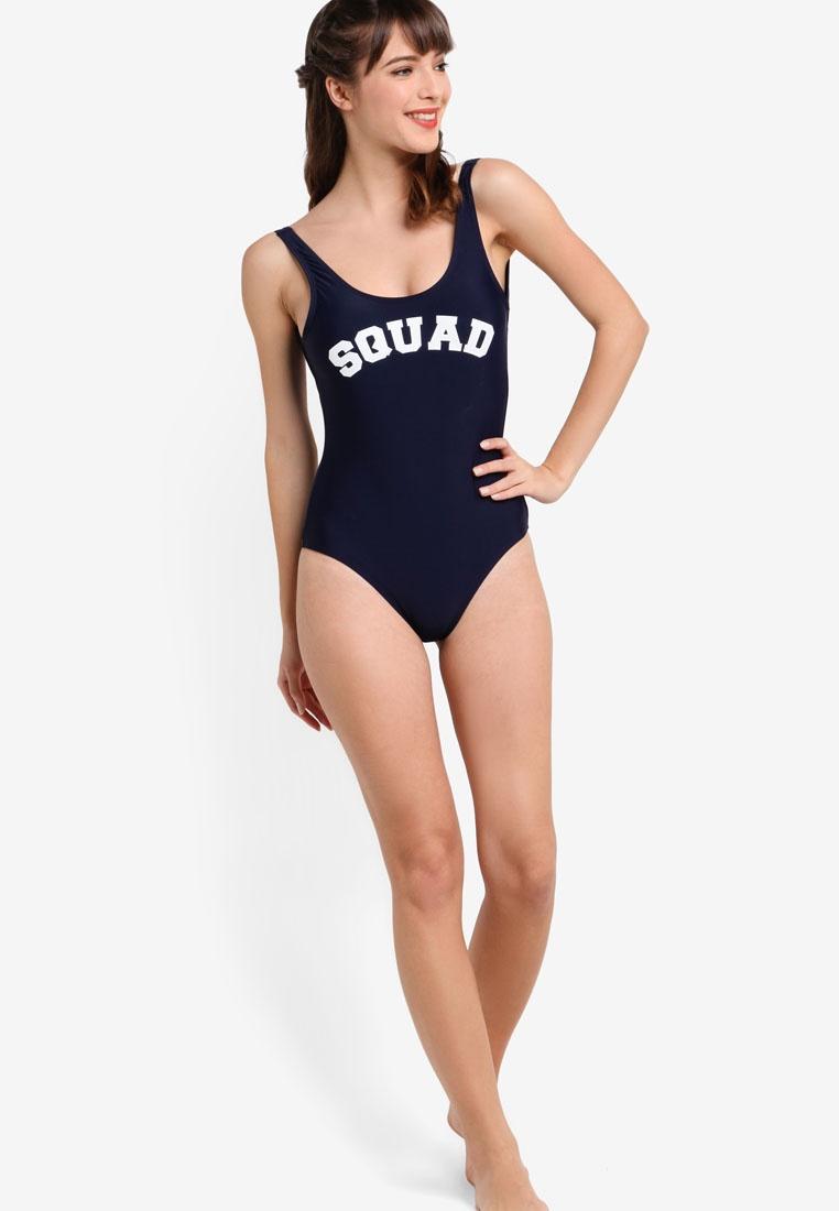 Funfit Squad Squad Navy Swimsuit Funfit 4Sqrp7w4