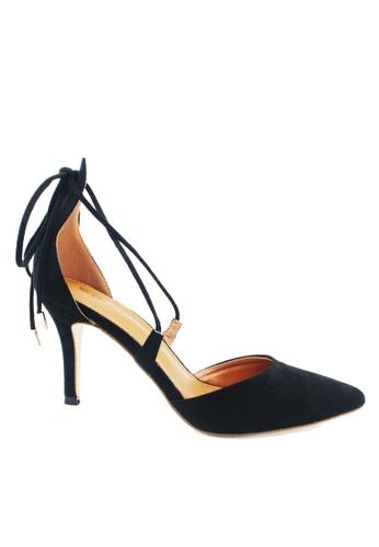 Twenty Eight Shoes 黑色 綁帶中空尖頭高跟鞋 VS16 TW446SH02LFLHK_1