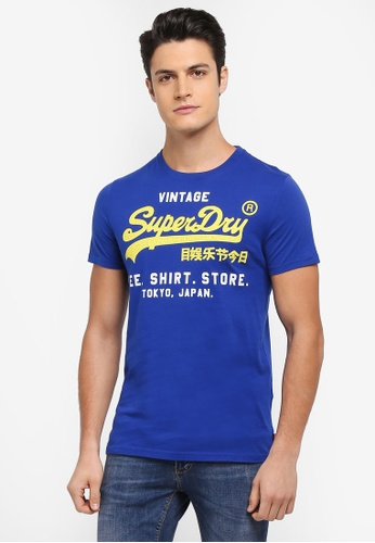 Superdry blue SHIRT SHOP DUO LITE TEE 126BDAAF572C9AGS_1