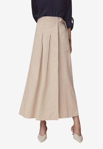 Kodz multi and brown Side Tie Maxi Skirt 106E6AAC51F6B2GS_1