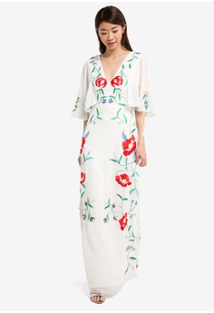 6232bb67f5 60% OFF Miss Selfridge Embellished Flute Sleeve Maxi Dress RM 559.00 NOW RM  223.90 Sizes 10