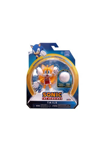 Kidmoro yellow SEGA Sonic The Hedgehog - TAILS (Volleyball) Bendy 4-inch Figure with Accessories 48EE1ESFD6FBFBGS_1